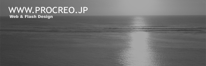 WWW.PROCREO.JP   Web & Flash Design